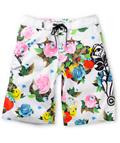 LRG Rose Bud White 22 Board Shorts