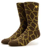 LRG Savages Giraffe Print Crew Socks