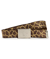 LRG Savages Giraffe Print Web Belt