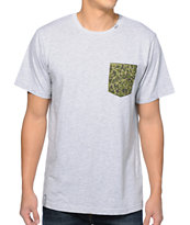 LRG Skirmish Grey & Camo Pocket Tee Shirt