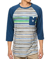 LRG Squad Up Stripe Baseball Pocket Tee Shirt
