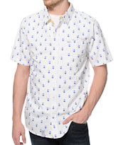 LRG Stay Anchored White Button Up Shirt