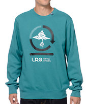 LRG Team Cycle Teal Crew Neck Sweatshirt