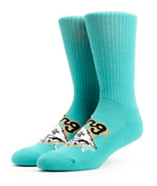 LRG Tree Ripper Aqua Crew Socks