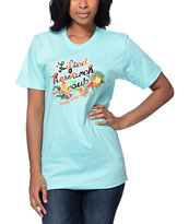 LRG Women's Fantasy Aqua Boyfriend Fit Tee Shirt