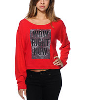 LRG Women's Target Red Crew Neck Sweatshirt