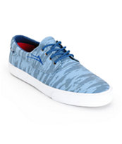 Lakai Camby Sky Blue Print Skate Shoes