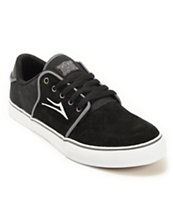 Lakai Carlo Black Suede Skate Shoes