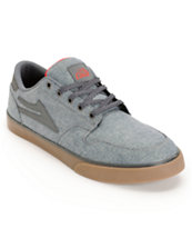 Lakai Carroll 5 Blue Chambray & Gum Skate Shoe
