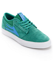 Lakai Griffin Green & Blue Suede Skate Shoe