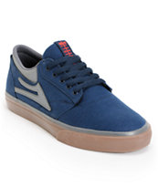 Lakai Griffin Navy & Gum Canvas Skate Shoe