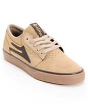 Lakai Griffin Tan, Brown & Gum Suede Skate Shoe