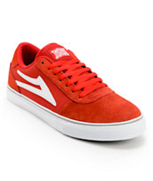 Lakai Manchester Select Red Suede Skate Shoes