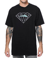 Lakai X Diamond Supply Co. Black & Mint Tee Shirt