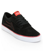 Lakai x Baker Griffin Black, White & Red Suede Skate Shoe