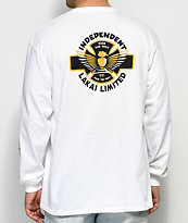 Lakai x Independent White Long Sleeve T-Shirt