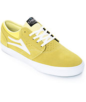 Lakai x Krooked Griffin Yellow Suede Skate Shoes