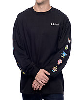 Lakai x hello sanrio Verticals Black Long Sleeve T-Shirt