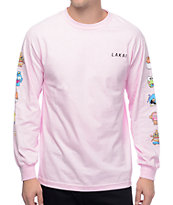 Lakai x hello sanrio Verticals Pink Long Sleeve T-Shirt