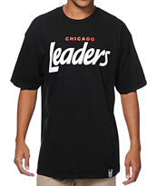 Leaders 1354 Chicago Leaders Black & Red Tee Shirt