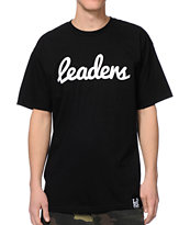 Leaders 1354 Cursive Black Tee Shirt