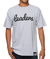 Leaders 1354 Cursive Grey Tee Shirt