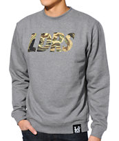 Leaders 1354 LDRS Camo Grey Crew Neck Sweatshirt