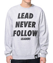Leaders 1354 Lead Grey Crew Neck Sweatshirt