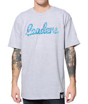 Leaders 1354 Water Script Grey Tee Shirt