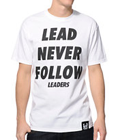 Leaders Lead White Tee Shirt