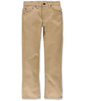 Levis Boys 511 Chinchilla Khaki Twill Pants