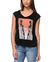 Lira ASAP Black Open Back Tee Shirt