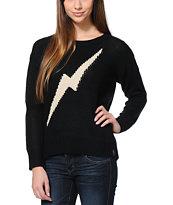 Lira Bolts Black Knit Sweater