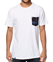 Lira Galactic White Pocket Tee Shirt
