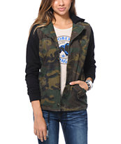 Lira Girls Combat Camo Print Hooded Canvas Jacket