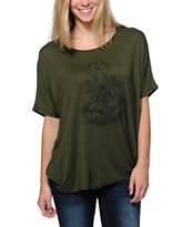 Lira Girls Goddess Green Dolman Top