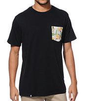 Lira Paradise Black Pocket T-Shirt