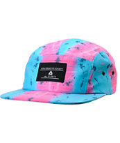 Lira Tie Dye Pink & Blue 5 Panel Hat