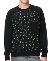 Lira Tropics Black Crew Neck Pocket Sweatshirt