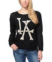 Lira Women's Bones LA Black Knit Sweater