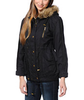 Lira Women's Moonrise Black Parka Jacket