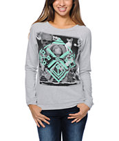 Lira Women's Saint Grey Crew Neck Sweatshirt
