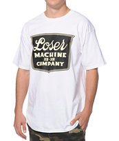 Loser Machine Banquet White T-Shirt