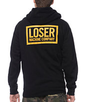 Loser Machine Basic Box Black Zip Up Hoodie