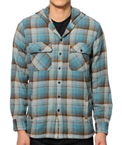 Loser Machine Guardrail Hooded Flannel Shirt