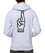 Loser Machine Loser Box Grey Zip Up Hoodie