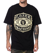Loser Machine Membership No Cigarette Black Tee Shirt