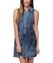 Love, Fire Knit Denim Dress