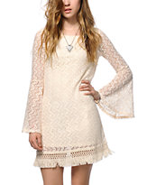Love, Fire Lace Bell Sleeve Shift Dress