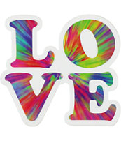 Love Tie Dye Sticker